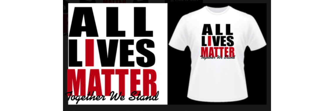 All lives matter white tee