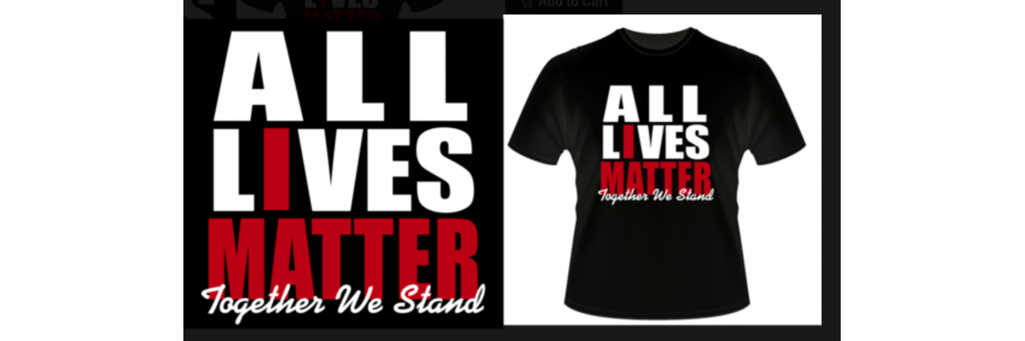 All lives matter black Tee