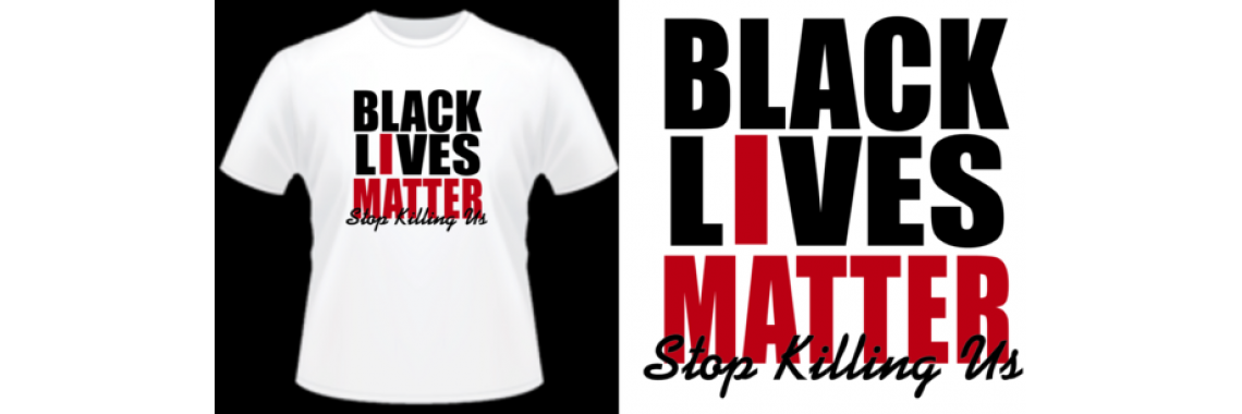 black lives matter white tee